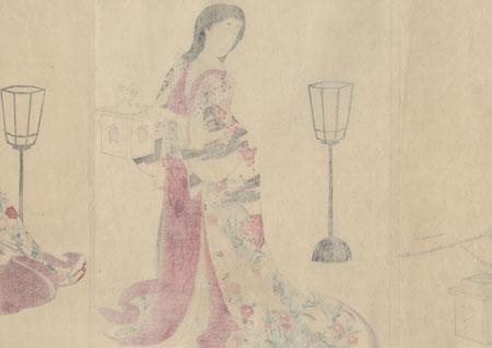Warding off Evil Spirits by Chikanobu (1838 - 1912)