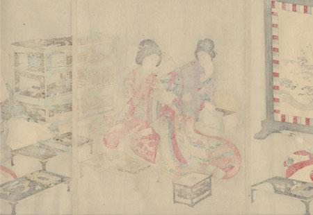 Poetry Contest, 1895 by Chikanobu (1838 - 1912)