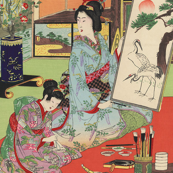 Villa of a Wealthy Family, 1892 by Nobukazu (1874 - 1944)