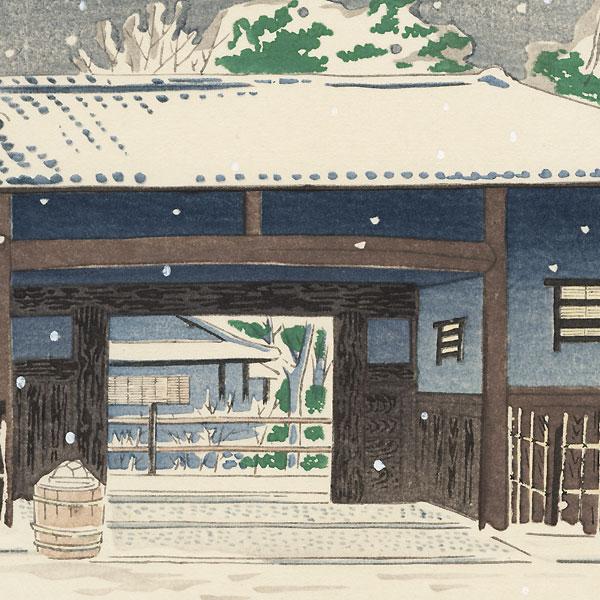 Yabu-no-uchi Tea House by Tokuriki (1902 - 1999)