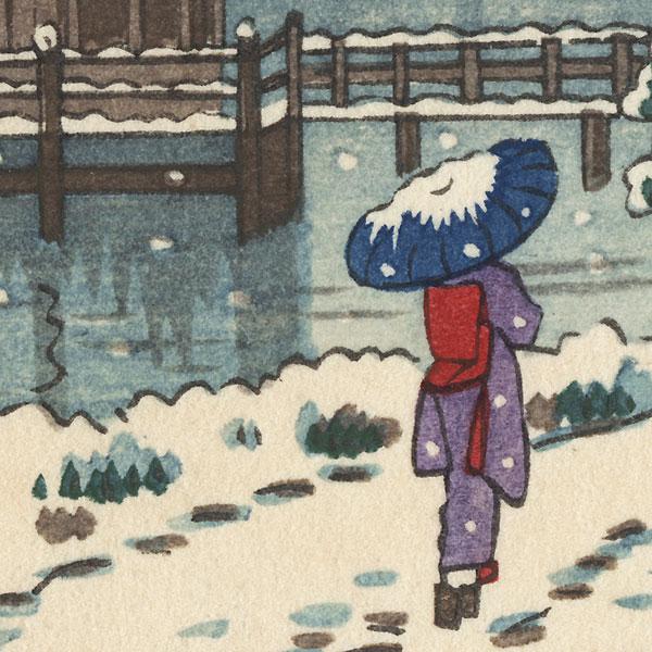 Ukimido in Winter by Shin-hanga & Modern artist (unsigned)