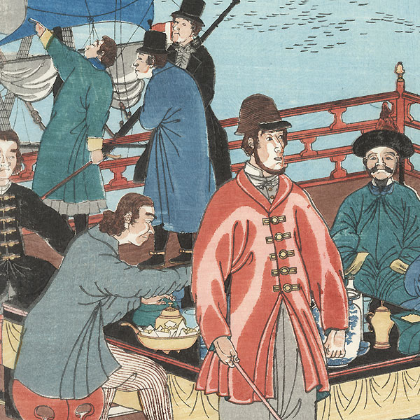 People of the Five Nations Eating and Drinking, 1862 by Yoshitora (active circa 1840 - 1880)