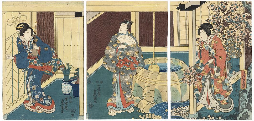 The Akashi Bathhouse, 1847 - 1852 by Toyokuni III/Kunisada (1786 - 1864)