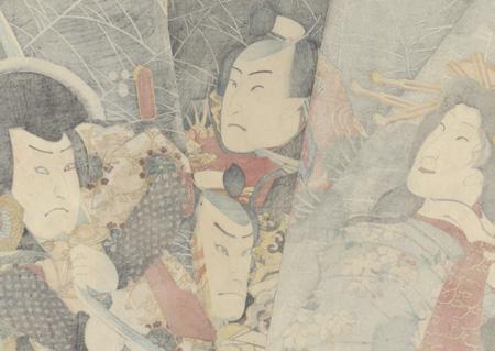 Princess Wakana and Giant Spider Web, 1853 by Toyokuni III/Kunisada (1786 - 1864)