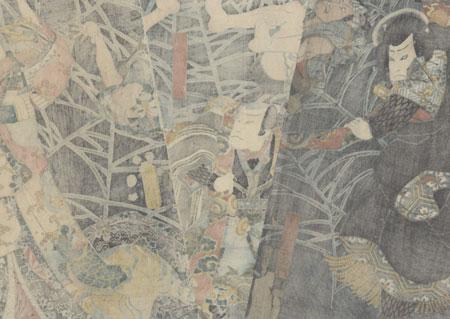 Minamoto no Yorimitsu and the Earth Spider, 1853 by Toyokuni III/Kunisada (1786 - 1864)