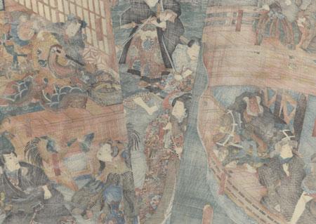 Actors in the Old Story of Sansho Dayu, 1852 by Toyokuni III/Kunisada (1786 - 1864)