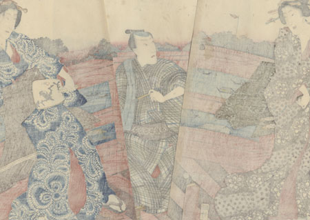 Evening at Ryogoku in the Eastern Capital, 1853 by Kunisada II (1823 - 1880)