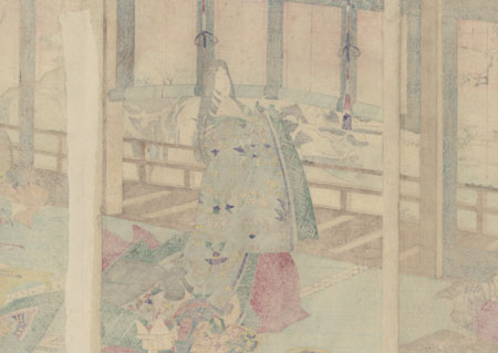Poems after Snow at the Imperial Palace by Meiji era artist (unsigned)