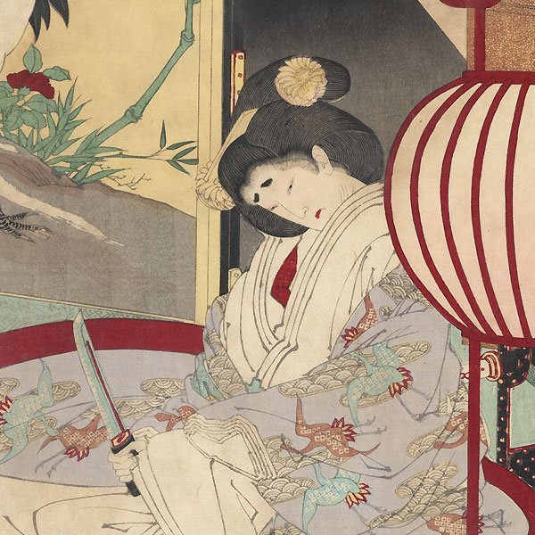 A Woman Saving the Nation: A Chronicle of Great Peace, 1886 by Yoshitoshi (1839 - 1892)