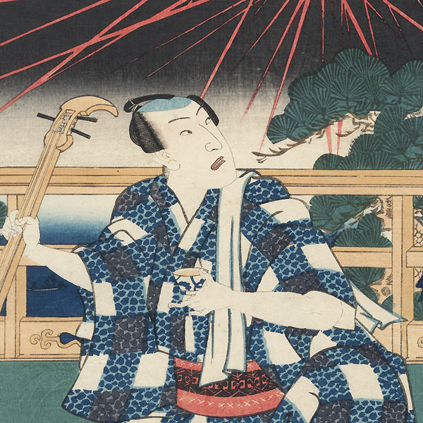 Three Young People of the Present Day, 1856 by Toyokuni III/Kunisada (1786 - 1864)