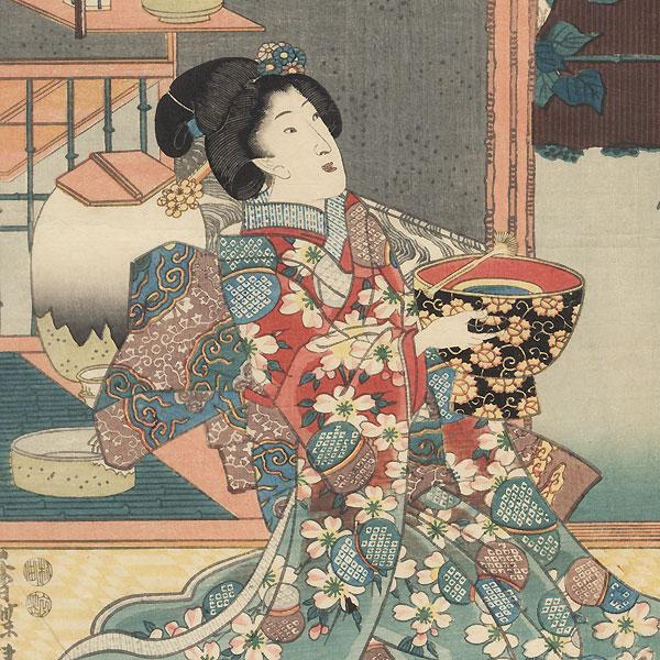 A Summer Morning, 1847 - 1852 by Toyokuni III/Kunisada (1786 - 1864)