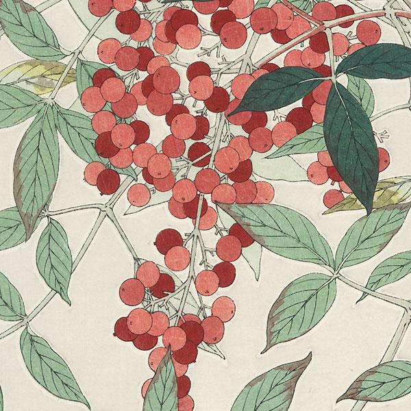 Nandina by Kawarazaki Shodo (1889 - 1973)