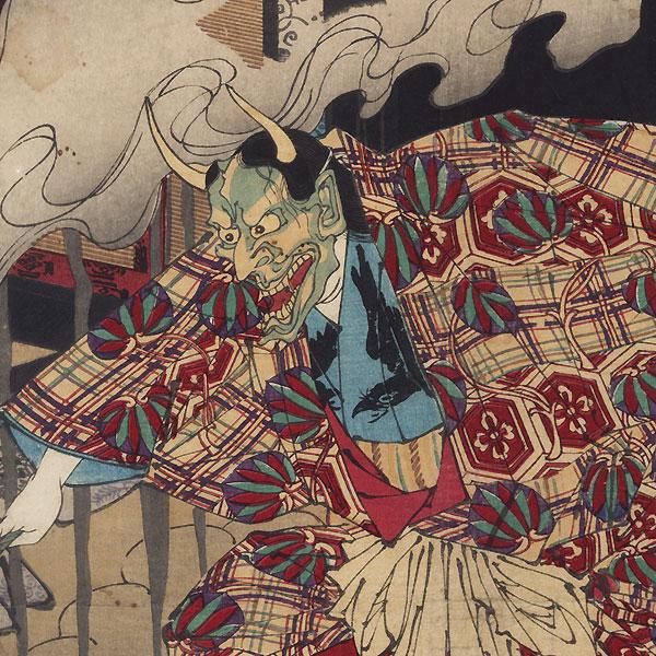 The False Murasaki and a Country Genji, 1884 by Yoshitoshi (1839 - 1892)