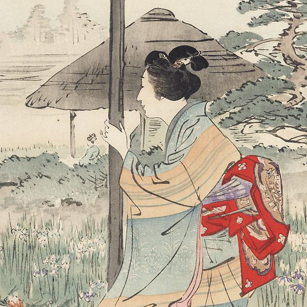 Irises at Horikiri by Gekko (1859 - 1920)