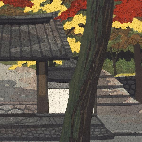 Deep Red, Takayama Temple, 1990 by Masao Ido (1945 - 2016)