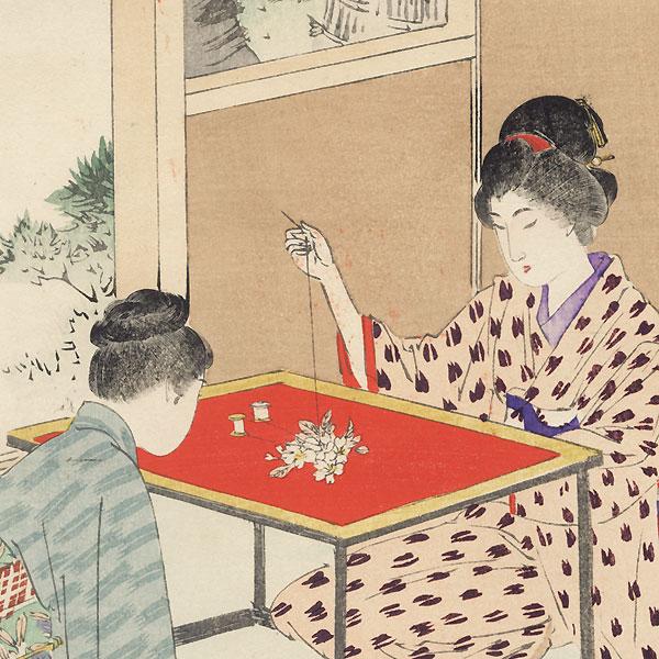 Needlework by Shuntei Miyagawa (1873 - 1914)
