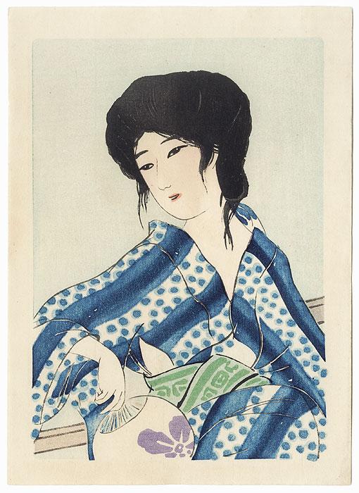 Beauty after a Bath by Hirezaki Eiho (1881 - 1970)