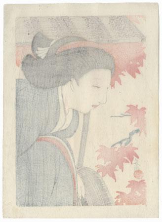 Beauty in Autumn by Hirezaki Eiho (1881 - 1970)