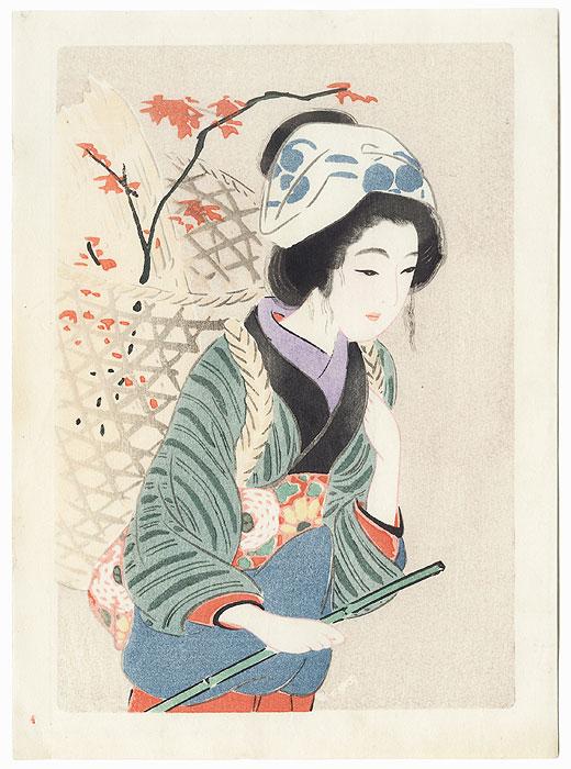 Farm Woman by Hirezaki Eiho (1881 - 1970)