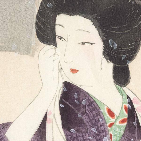 Beauty under a Cherry Tree by Hirezaki Eiho (1881 - 1970)