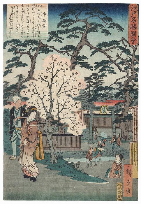 Ushi no Gozen Shrine by Hiroshige II (1826 - 1869)