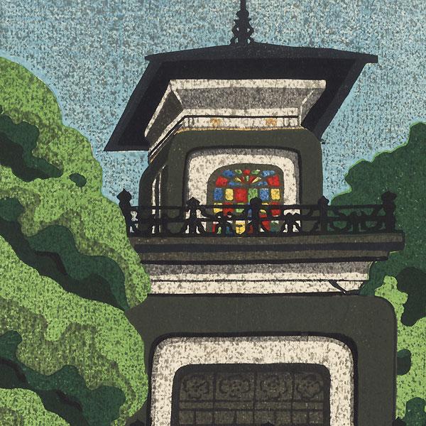 Oyama Shrine in Kanazawa, 1975 by Masao Ido (1945 - 2016)