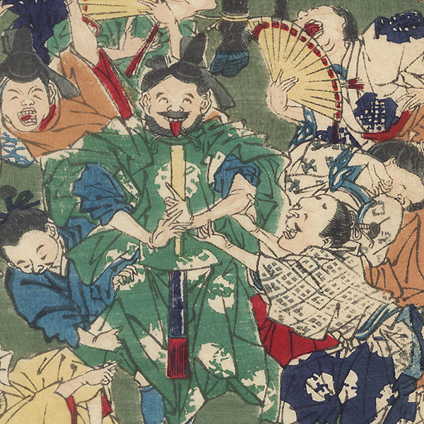 Fine Clothes for the Groom by Kyosai (1831 - 1889)