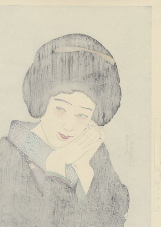 Actress, 1929 by Shima Seien (1892 - 1970)
