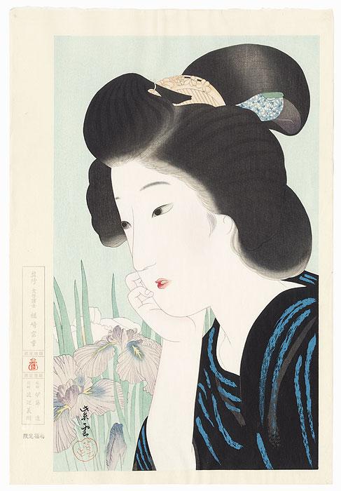 Iris, 1918 by Kondo Shiun (active circa 1915 - 1940)