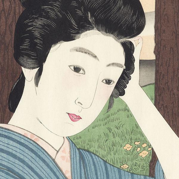 A Flower for the Hair, 1915 by Hashiguchi Goyo (1880 - 1921)