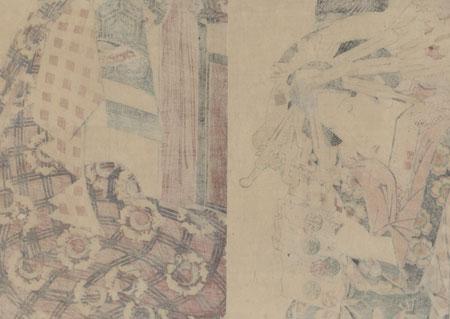 Beauty Reading a Letter Kakemono by Eisen (1790 - 1848)