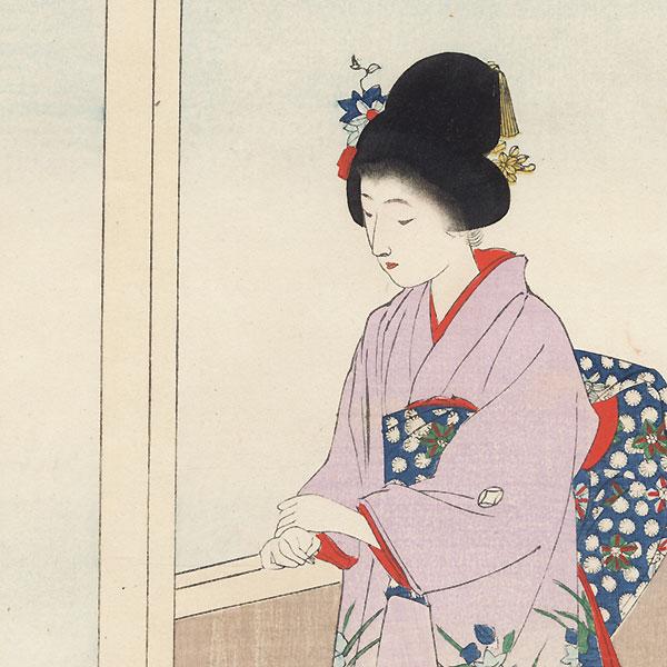 Camellia Garden by Shuntei Miyagawa (1873 - 1914)