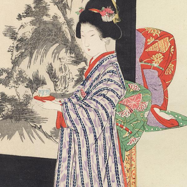 Painted Screen by Shuntei Miyagawa (1873 - 1914)