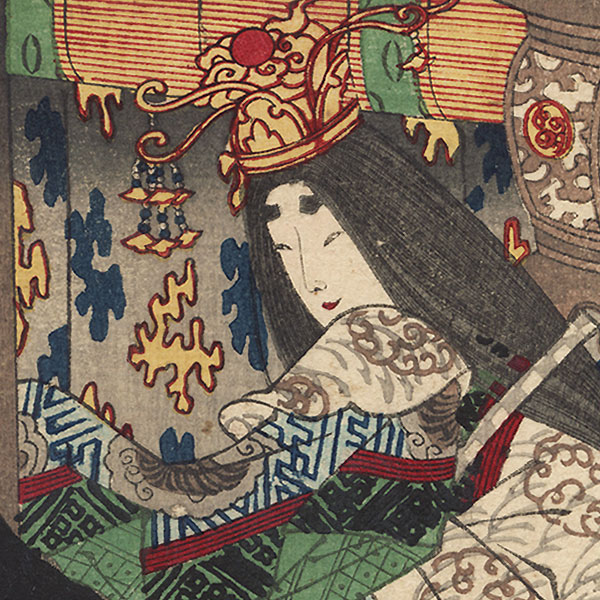 Beauty and Bored Samurai by Yoshiiku (1833 - 1904)