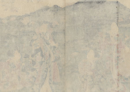 Prince Genji and Beauties Viewing Cherry Blossoms, 1854 by Toyokuni III/Kunisada (1786 - 1864)