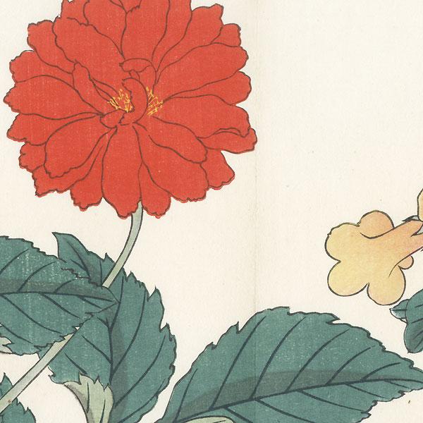Summer Flowers, 1907 by Tomioka Tessai (1836 - 1924)