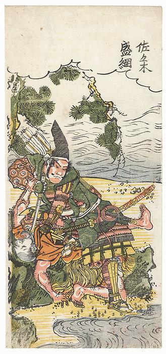 Sasaki Takatsuna by Edo era artist (unsigned)