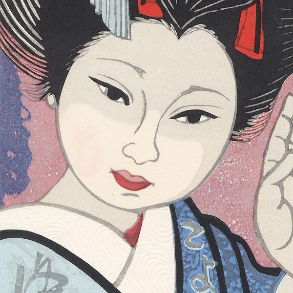 March: Cherry Blossoms by Moonlight by Junichiro Sekino (1914 - 1988)