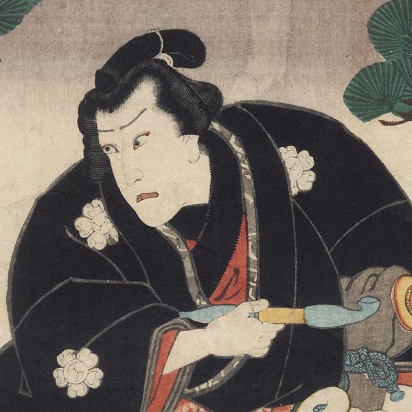 Scene from Sekai awase chocho komon, 1859 by Toyokuni III/Kunisada (1786 - 1864)