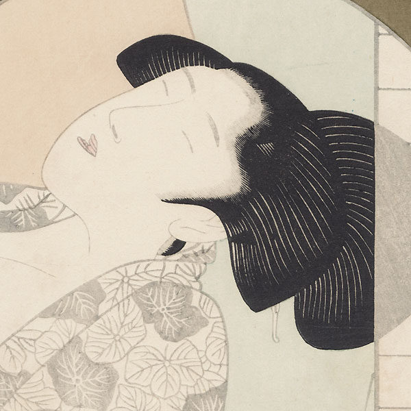Pillow Print by Edo era artist (unsigned)
