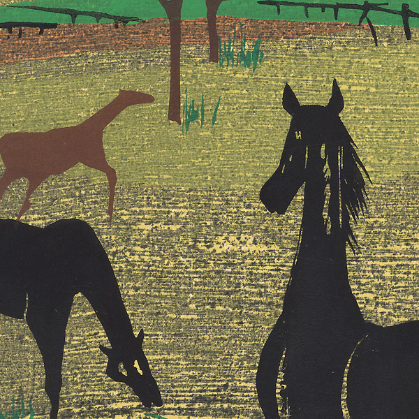 Farm Scenery, 1976 by Shiro Takagi (1934 - 1998)