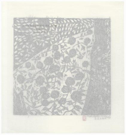 Bush Clover and Chrysanthemum by Munakata (1903 - 1975)