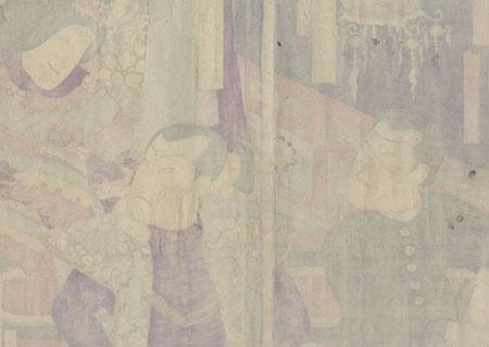 Confronting a Chinese Beauty, 1872 by Kunichika (1835 - 1900)