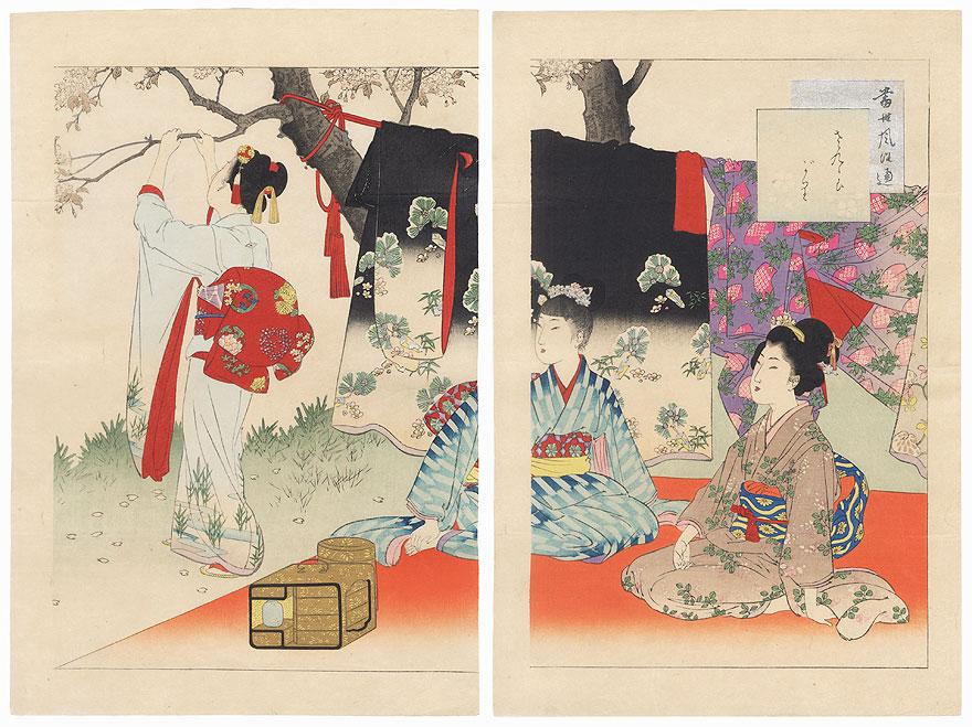 Picnic, 1897 by Miyagawa Shuntei (1873 - 1914)