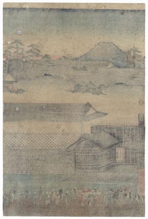 True View of Kasumigaseki, 1854 by Hiroshige (1797 - 1858)