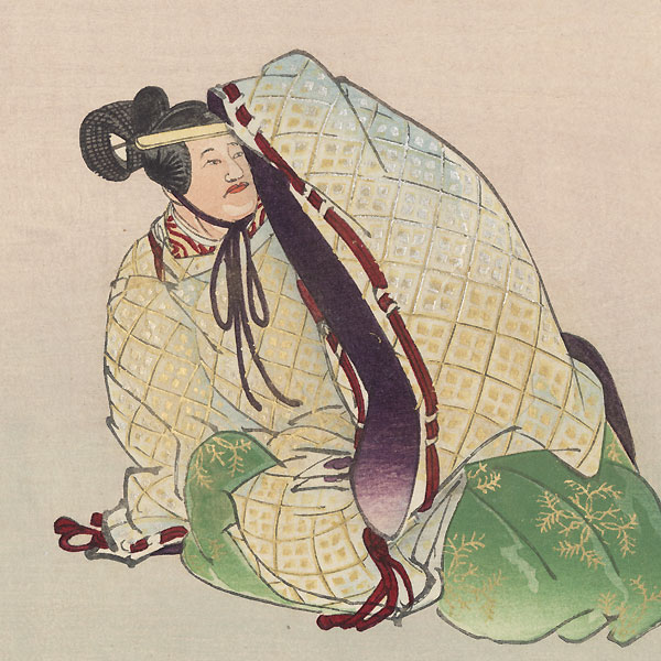 Narihira mochi (Narihira's Sticky Rice) by Tsukioka Kogyo (1869 - 1927)
