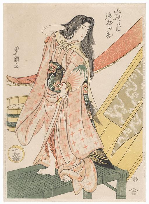 Beauty after a Bath, 1892 Reprint by Toyokuni I (1769 - 1825)