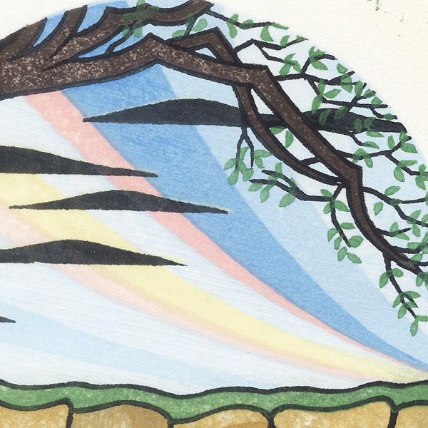 Persimmon Tree - Spring, 1986 by David Stones (born 1945)