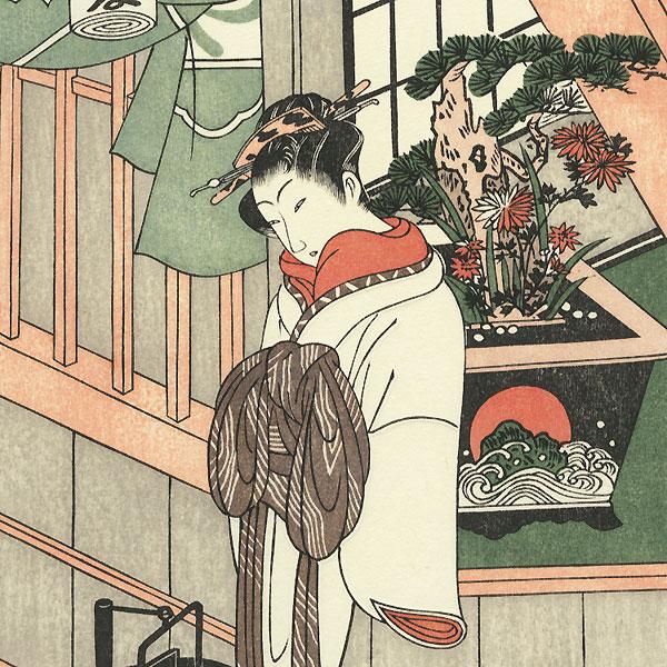 The Courtesan Handayu of Naka-Ogiya by Buncho (active 1765 - 1792)