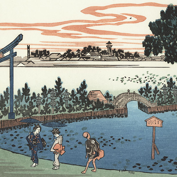 The Lotus Pond at Shinobu Hill by Hiroshige (1797 - 1858)